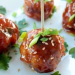 Easy and quick to make asian fish balls covered in a sweet & sour sauce - Ready in less than 20 min and perfect to please a large crowd! Recipe by The Petite Cook