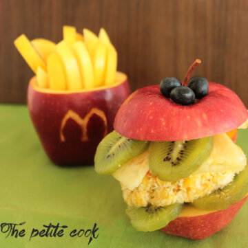 Healthy quick and easy fruit Happy Meal