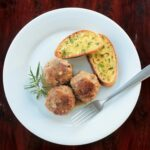 Winter Wild Mushroom Meatballs with garlic bread