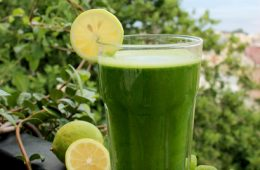 Coconut Lime detox smoothie breakfast recipe