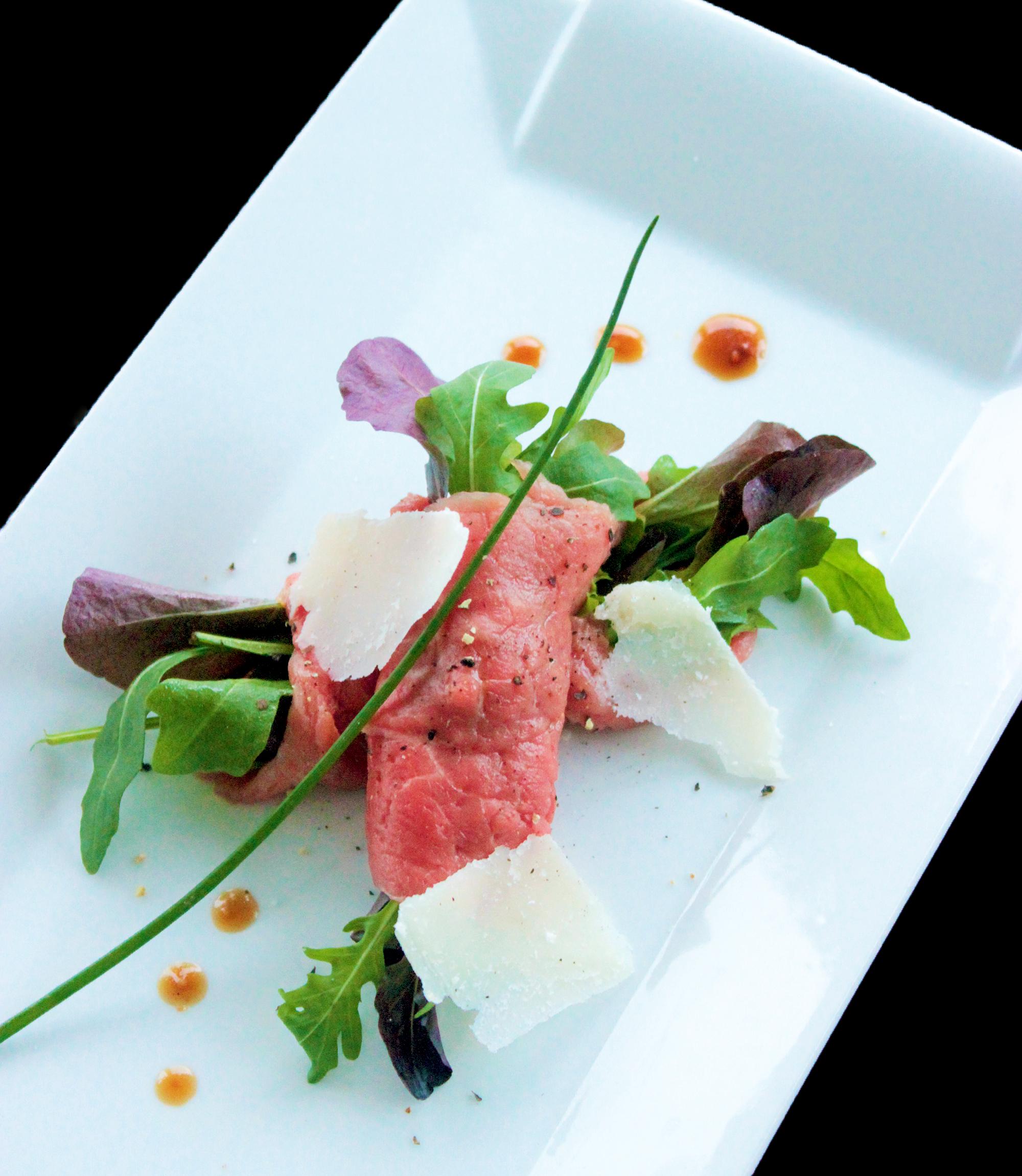 Italian Beef Carpaccio with Dijon Balsamic Vinaigrette - The Petite ...