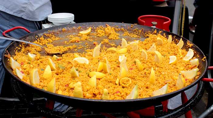 Paella at streets of spain food festival in london