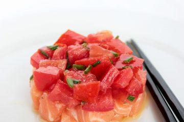 Salmon Tomato easy quick healthy summer recipe