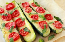 Italian Zucchini Boats Mozzarella Tomato Basil The Petite Cook easy quick Recipe