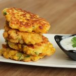 Gordon Ramsay inspired Sweetcorn Fritters with Yogurt dip