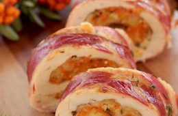 Thanksgiving Turkey Roulade with Pumpkin & Cranberry stuffing The petite cook