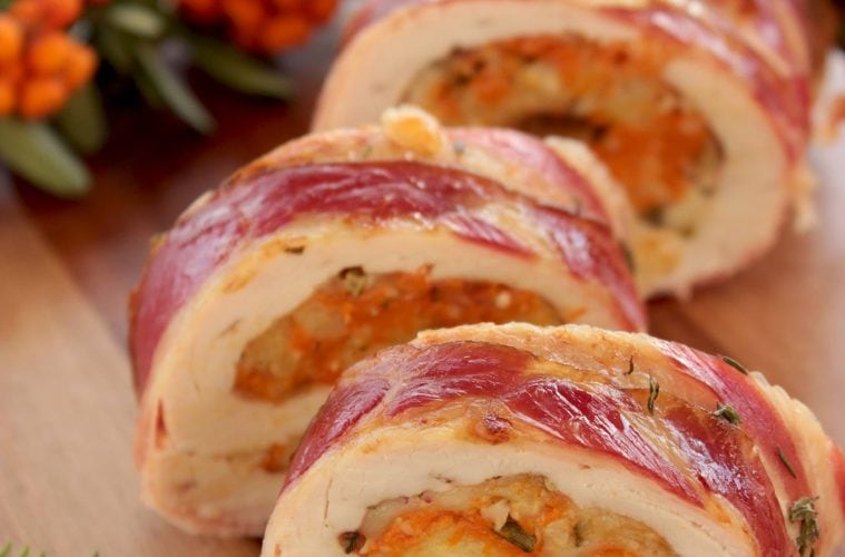 Thanksgiving Turkey Roulade With Pumpkin Cranberry Stuffing