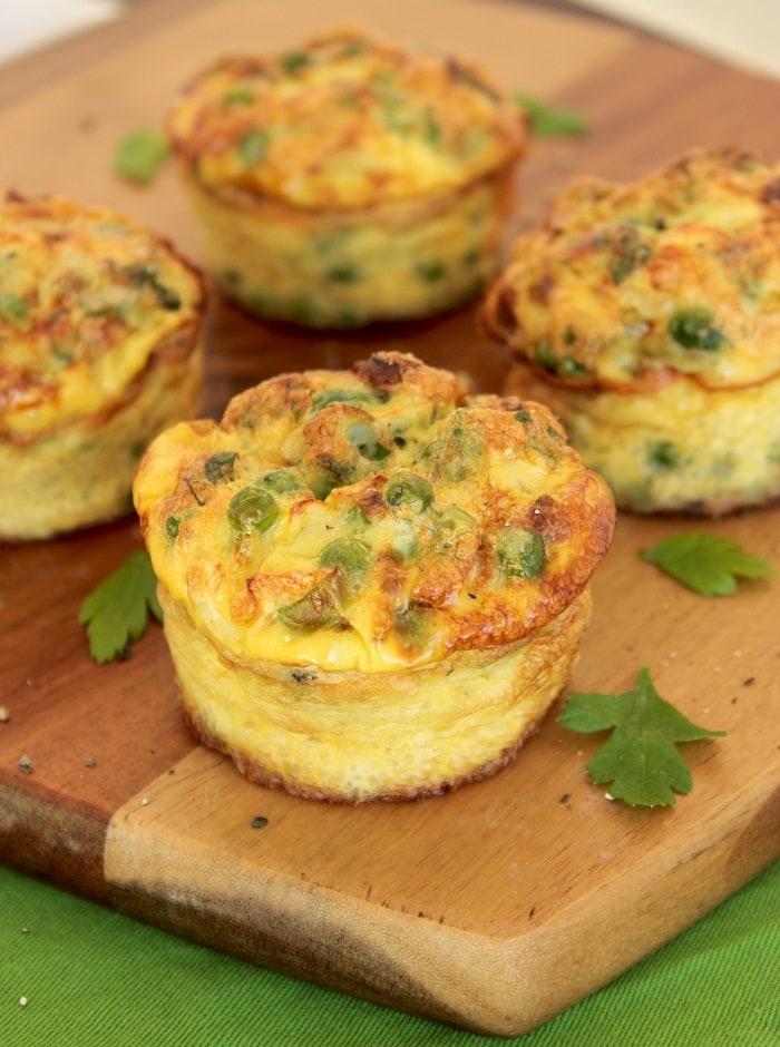 Green Veggies and Feta cheese Mini Frittata - The Petite Cook