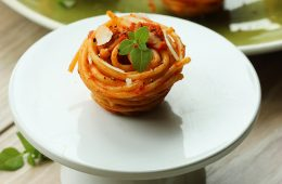 Easy Spaghetti Cupcakes, a fun vegetarian recipe for the whole family. Recipe by The Petite Cook