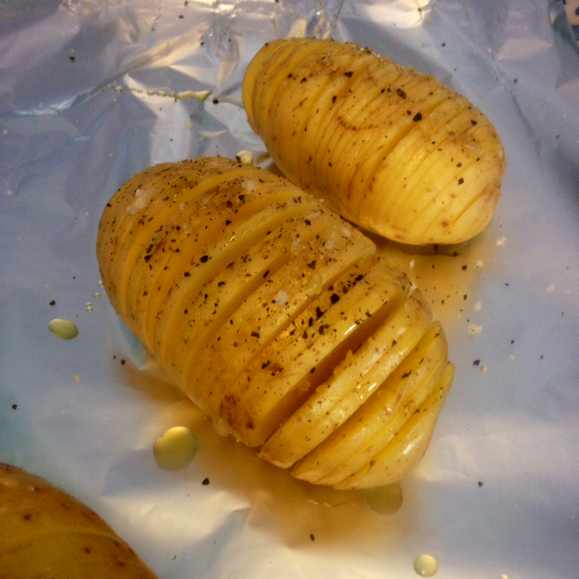 Hasselback Potato Ready for the oven