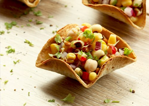 Mexican Taco Bowls with Mixed Bean Salsa