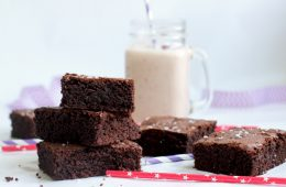 avocado brownies, milkshake in the background