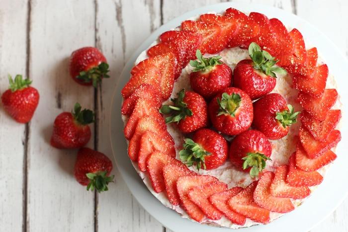 Strawberry Cheesecake No Bake