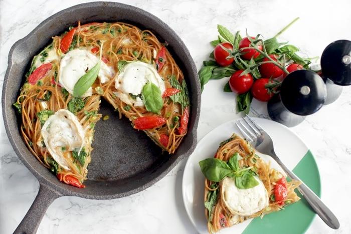 Leftover Spaghetti Frittata - The Petite Cook