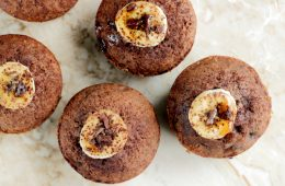 gluten-free banana muffins from above