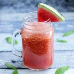 Super Cool Watermelon Smoothie - A refreshing vitamin-packed drink perfect to keep you super hydrated this summer! Plus it's vegan, fat-free and sugar-free!