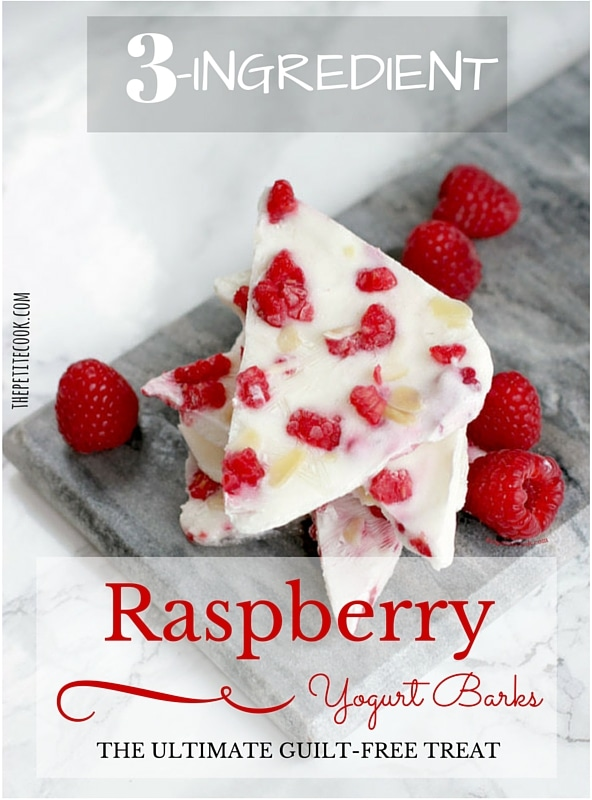 3-Ingredient Raspberry Yogurt Barks - Easy, Healthy and Gluten-free Snack
