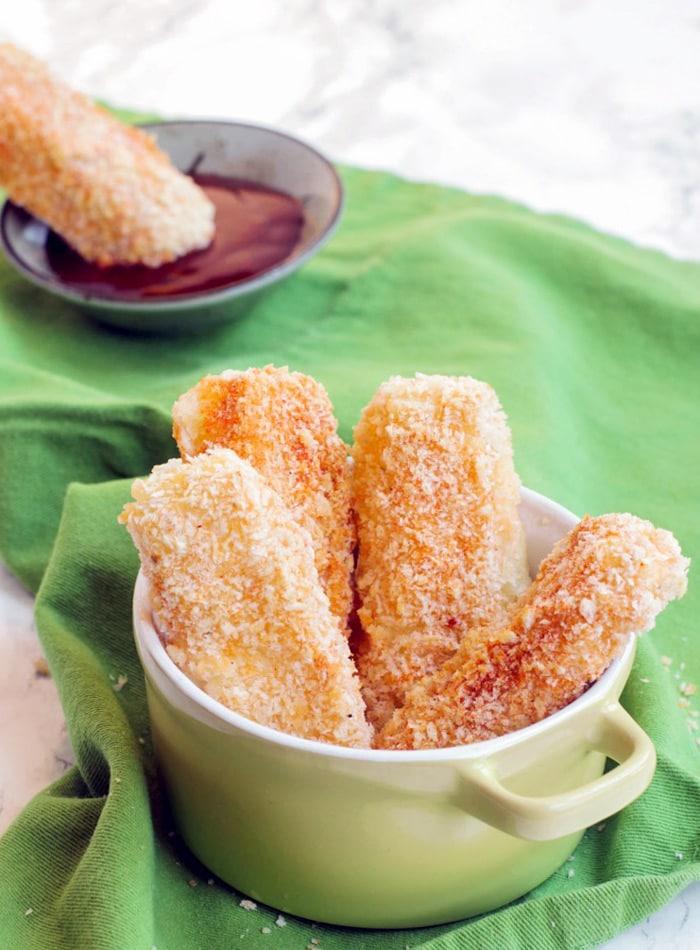 ready to serve baked mozzarella sticks
