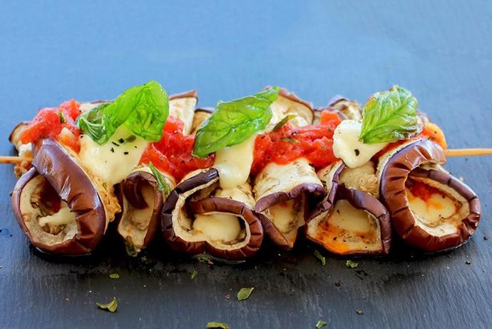 Eggplant-Skewers