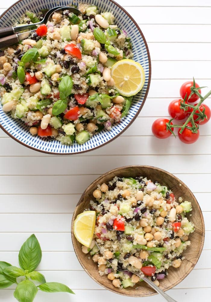 Vegan Bean And Quinoa Salad The Petite Cook