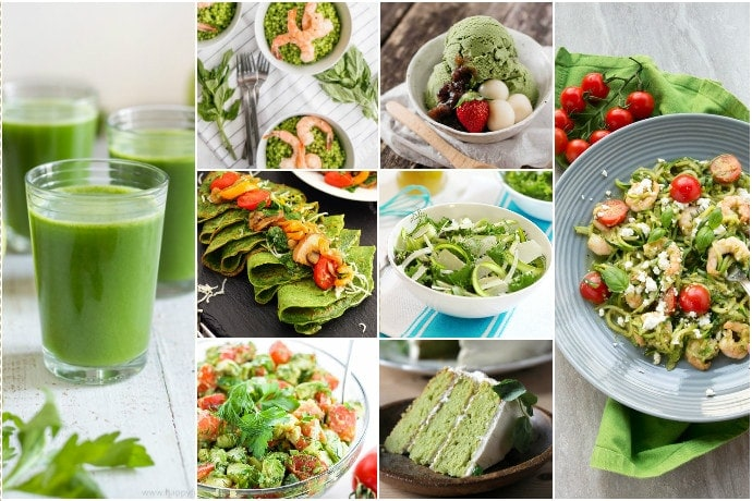 80 Super Healthy Green Recipes To Celebrate Spring Season! From snacks and easy meals to delicious drinks and desserts! Gluten-free, dairy-free and vegan options included - The Petite Cook