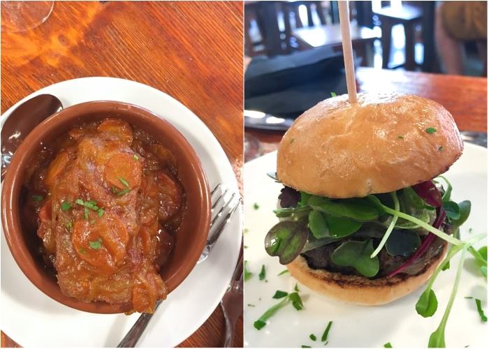 tuna stew and ox burger