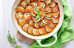 This easy Ratatouille recipe comes together quickly for an easy one-pot weeknight dinner. It's a light and fresh recipe that's naturally gluten-free, dairy-free and vegan. Recipe by The Petite Cook