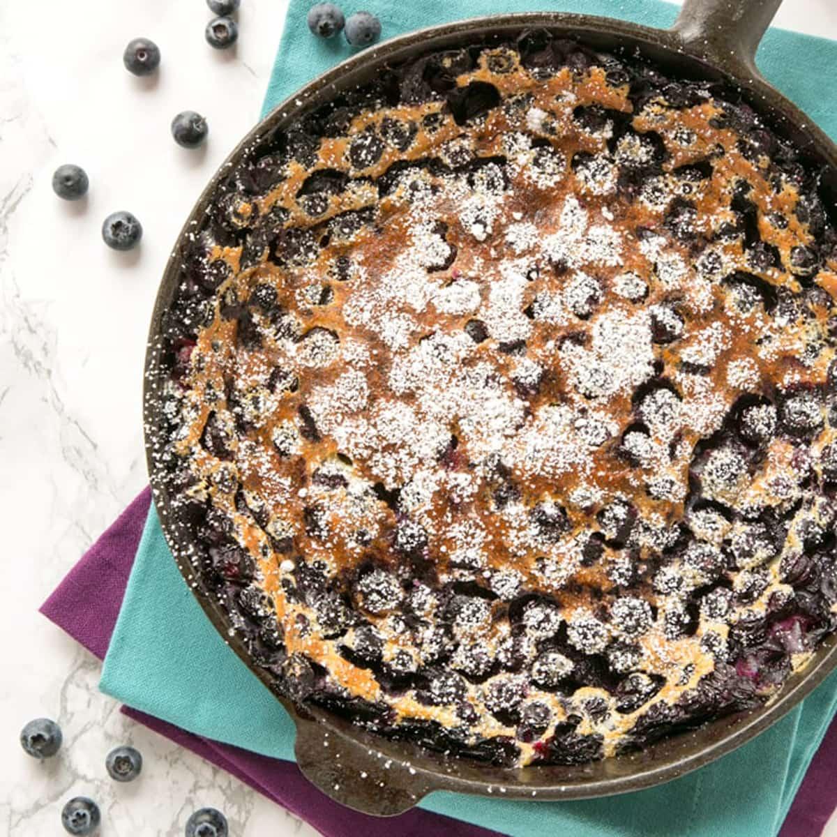 Easy French Blueberry Clafoutis