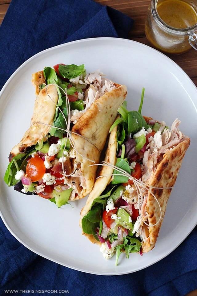 chicken wraps with hummus