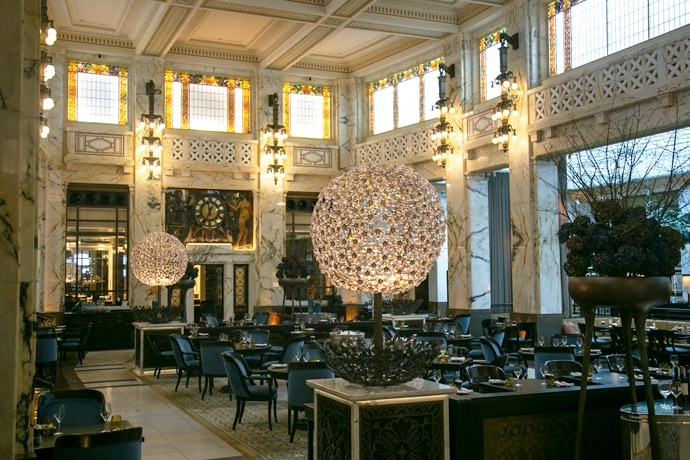 Interiors at The Bank brasserie at Park Hyatt Vienna