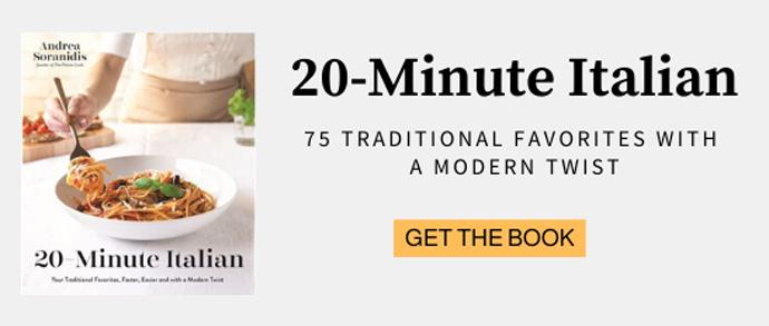 20-minute italian cookbook banner