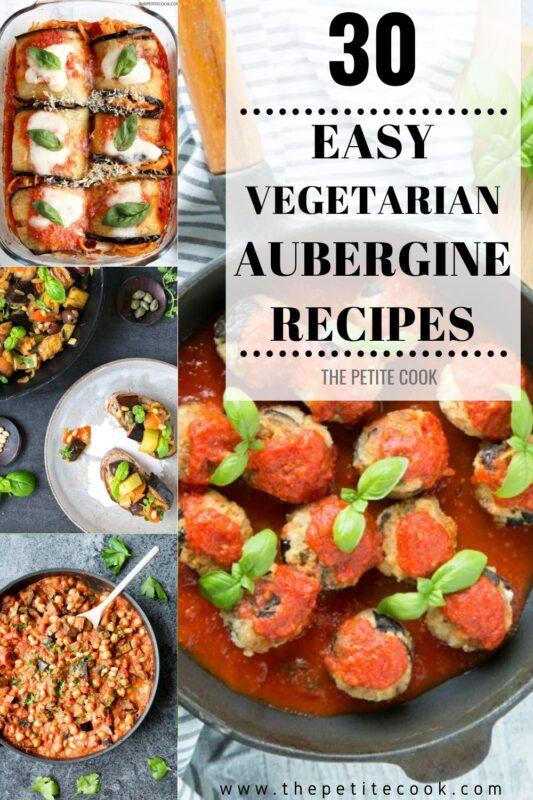 vegetarian aubergine recipes pinterest image