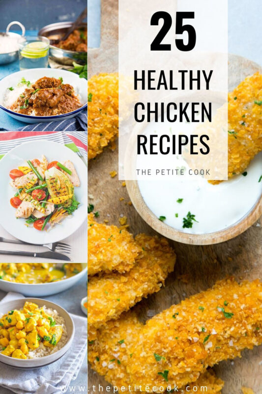 healthy chicken recipes to try round up image for pinterest